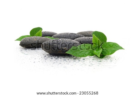 therapy stones and water - stock photo