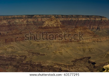 There are many overlooks on the south rim of grand canyon which demonstrate the layers upon layers of rock. - stock photo