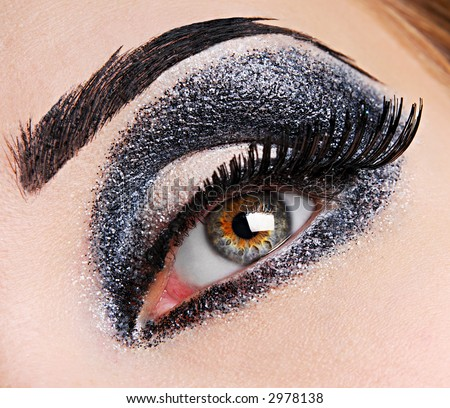 There is fashion make up of eye. - stock photo