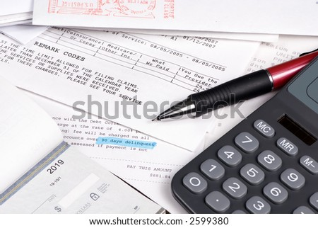 There is never enough money to go around. 90 days delinquent. - stock photo