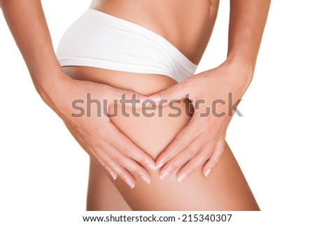 There is no cellulite.. - stock photo