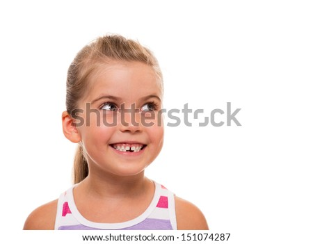 there is something interesting above - stock photo