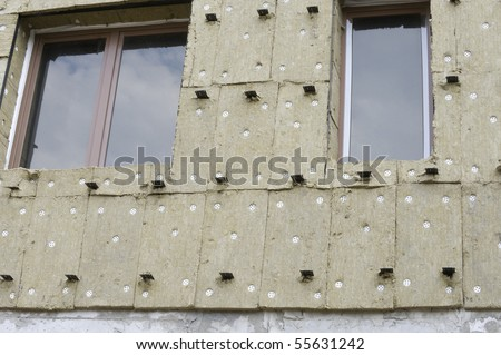 Thermal insulation of a building - stock photo