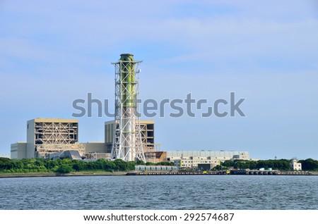 Thermal power plant, Keihin Industrial Area, Kawasaki, Japan - stock photo