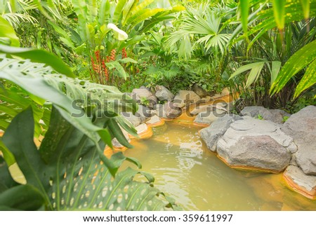 Thermal springs in Costa Rica - stock photo