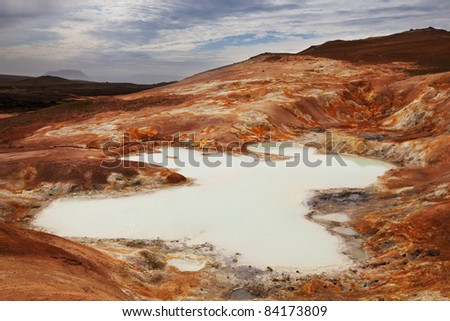 Thermal zone in Iceland - stock photo