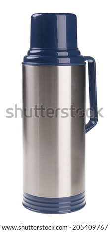 Thermo flask on the background. - stock photo