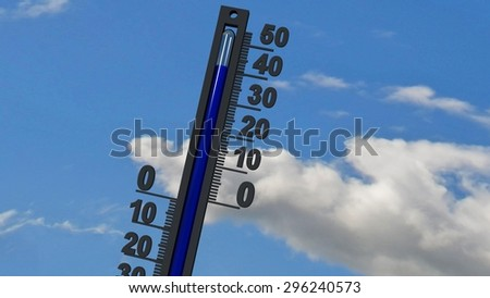 thermometer 40 degrees - stock photo