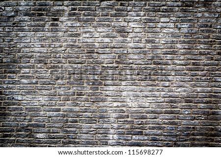 THESSALONIKI,GREECE - JULY,06: Background of brick wall texture on July 06, 2012 in Thessaloniki, Greece. - stock photo