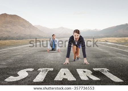 They are ready to compete - stock photo