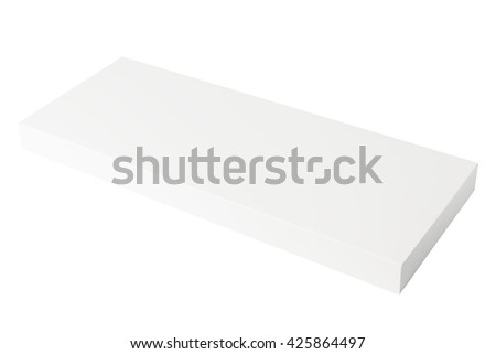 Thin paper box isolated on white background - stock photo