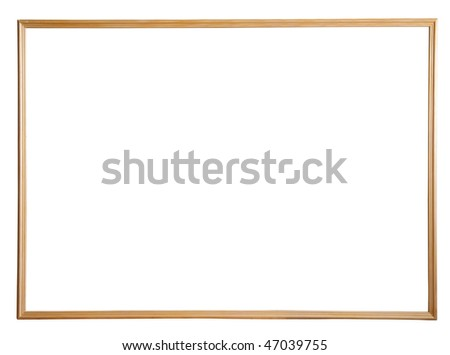 thin wooden picture frame, isolated with clipping path - stock photo