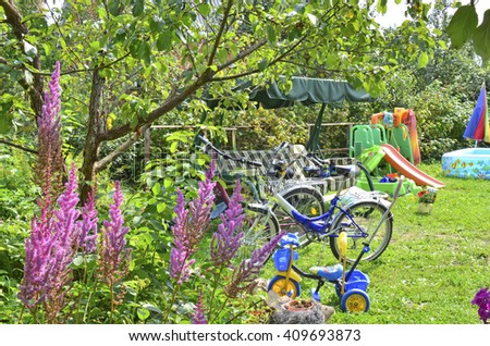 things for summer rest in countryside - stock photo