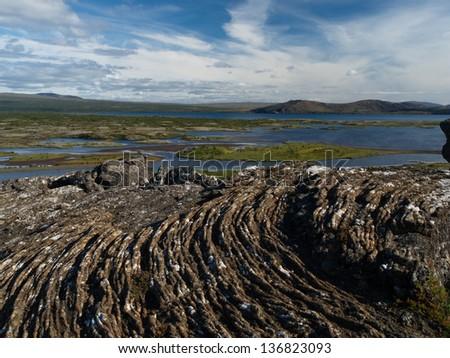 Thingvellir Lakes - stock photo