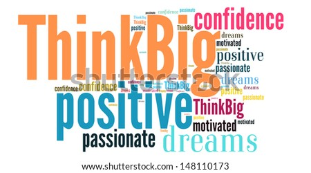 Think big word cloud style - stock photo
