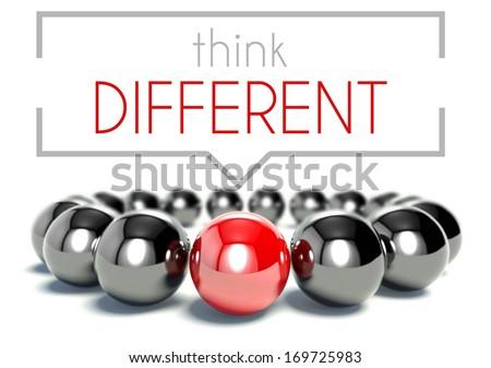 Think different business unique concept - stock photo