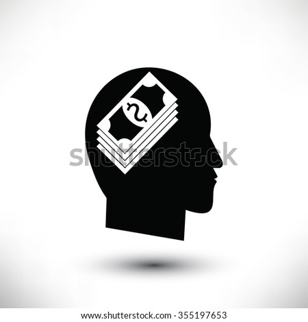 Think Money Icon - stock photo