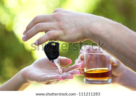 Think of yourself and others - Do not drink when you drive - stock photo