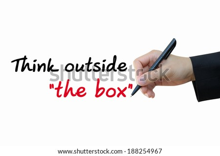 Think outside box, initiative idea for business concept - stock photo