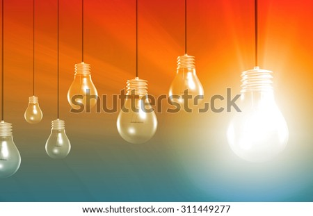 Think Outside the Box or Thinking Different Ideas - stock photo