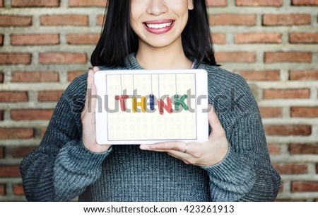 Think Thoughtful Visionary Creative Determination Concept - stock photo