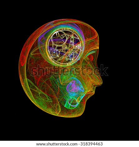 Thinker abstract illustration - stock photo