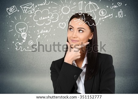 Thinking. - stock photo