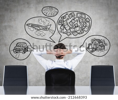 Thinking about perfect life. - stock photo
