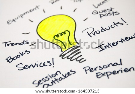 Thinking and Planning Sketch - stock photo