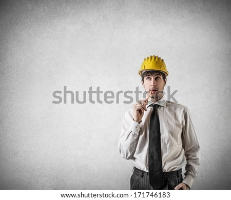 thinking architect - stock photo