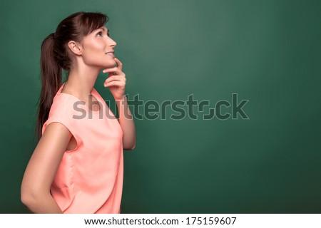 thinking big ideas at class - stock photo
