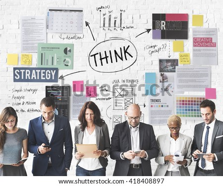 Thinking Determination inspiration Planning Concept - stock photo
