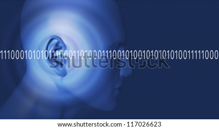 Thinking in binary numbers 2 - stock photo