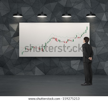 thinking of future share price - stock photo