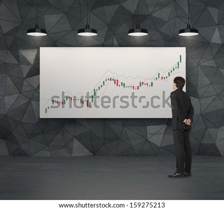 thinking of future share price - stock photo
