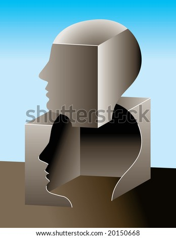 Thinking outside of the box - stock photo