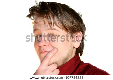 Thinking Teenage Thoughts - stock photo