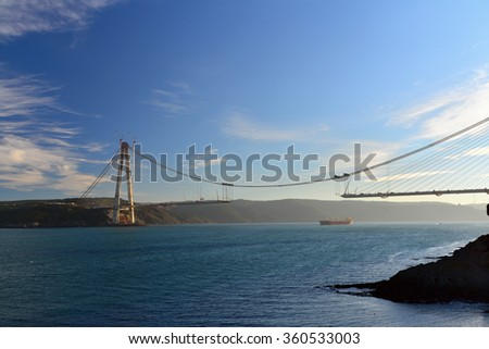 Third Bridge, Yavuz Sultan Selim Bridge - stock photo