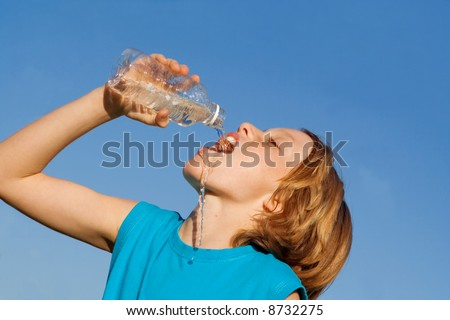 thirsty - stock photo