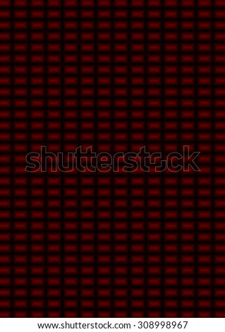 This background is of a deep red and black small rectangles. - stock photo