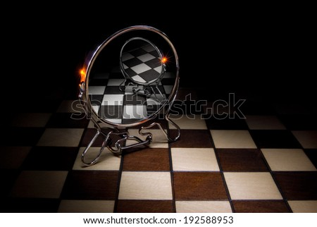 This image - a metaphor (secret ideas). - stock photo