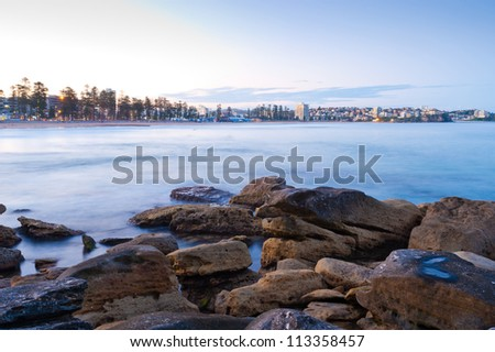 This image shows the suburb of Manly, near Sydney, Australia - stock photo