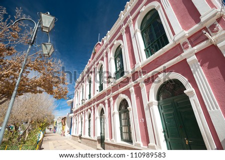 This image shows the town of Uyuni, Bolivia - stock photo