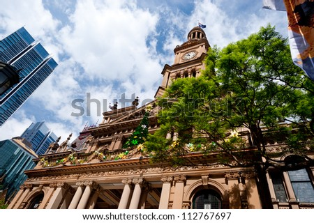 This image shows Town Hall in Sydney, Australia - stock photo