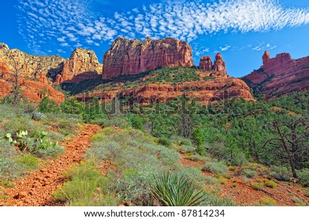 This image was captured on the Jim Thompson Trail in Sedona, AZ. - stock photo