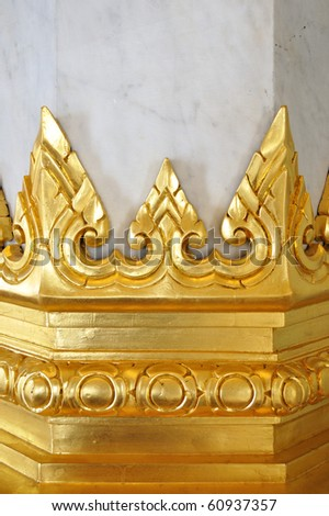 This is a base of column in a temple - stock photo