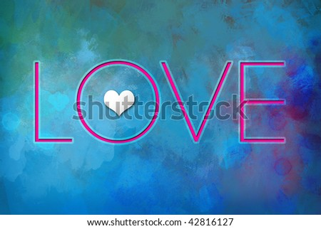 """This is a colorful lettering of the word """"LOVE"""". - stock photo"""