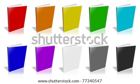 This is a 3D rendering of a white DVD Case. - stock photo