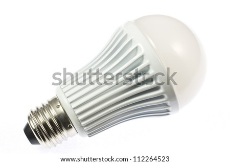 This is a picture of the LED light bulb I use. - stock photo