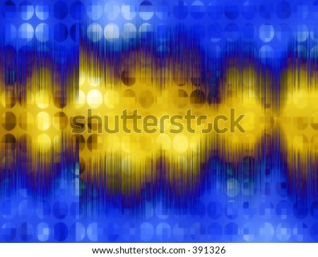 This is a sound wave. - stock photo